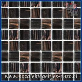 Glasmozaiek tegeltjes - Gold Line - 2 x 2 cm - Enkele Kleuren - per 20 steentjes - Enigma