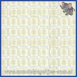 Glasmozaiek tegeltjes - Murrini Crystal - 1 x 1 cm - Enkele Kleuren - per 60 steentjes - Mini Snow White