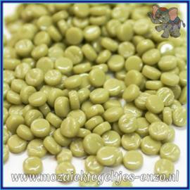 Glasmozaiek Pixel steentjes - Darling Dotz Normaal - 0,8 cm - Enkele Kleuren - per 50 gram - Light Olive