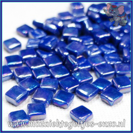 Glasmozaiek Pixel steentjes - Ottoman Parelmoer - 0,8 x 0,8 cm - Enkele Kleuren - per 50 gram - Dark Turquoise