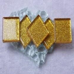 "- Glitter 2 x 2 cm - Goldy-Bullions-""S"""