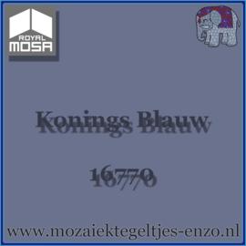 Binnen wandtegel Royal Mosa - Glanzend - 7,5 x 7,5 cm - Op maat gesneden - Konings Blauw 16770