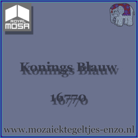 Binnen wandtegel Royal Mosa - Glanzend - 15 x 15 cm - per 1 stuk - Konings Blauw 16770