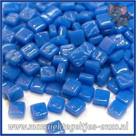 Glasmozaiek Pixel steentjes - Ottoman Normaal - 0,8 x 0,8 cm - Enkele Kleuren - per 50 gram - True Blue