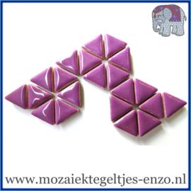 Keramische mozaiek steentjes - Triangles Driehoekjes Normaal - 15 mm - Enkele Kleuren - per 50 gram - Pretty Purple