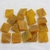 """- Goldlink 2 x 2 cm - Ochre-Brass-""""S"""""""