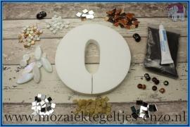 Mozaiek Kant & Klaar Pakket Piepschuim Huisnummer Groot - Cijfer 0 Bruin