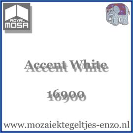 Binnen wandtegel Royal Mosa - Glanzend - 15 x 15 cm - per 1 stuk - Accent White 16900