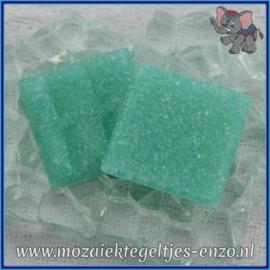 Glasmozaiek tegeltjes - Basic Line - 2 x 2 cm - Enkele Kleuren - per 20 steentjes - Sea Blue A63