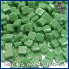 Glasmozaiek Pixel steentjes - Ottoman Matte - 0,8 x 0,8 cm - Enkele Kleuren - per 50 gram - Meadow Green