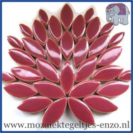 Keramische mozaiek steentjes - Petals Bloemblaadjes Normaal - 14 en 21 mm - Enkele Kleuren - per 50 gram - Deep Mauve