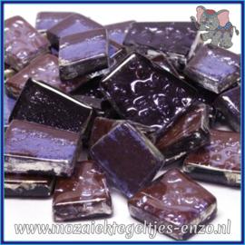 Glasmozaiek steentjes - Moonshine Measures Normaal - Gemixte Kleuren - per 50 gram - Charon Violet