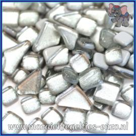 Glasmozaiek steentjes - Soft Glass Puzzles Normaal - Enkele Kleuren - per 50 gram - Silver