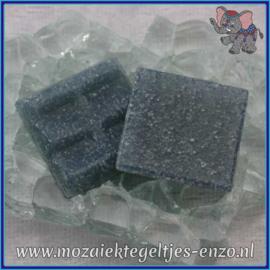 Glasmozaiek tegeltjes - Basic Line - 2 x 2 cm - Enkele Kleuren - per 20 steentjes - Denim A54