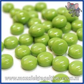 Glasmozaiek steentjes - Optic Drops Normaal - 12 mm - Enkele Kleuren - per 50 gram - New Green