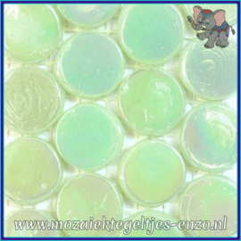 Glasmozaiek steentjes - Radiant Round Parelmoer - 18 mm - Enkele Kleuren - per 1 stuk - Vanuatu