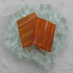 """- Goldlink 2 x 2 cm - Tangerine-Gilt-""""S"""""""