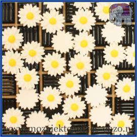 Cabochon hars plaksteen - Platte onderkant - Unlimited edition - per 1 stuk - Margriet (3)