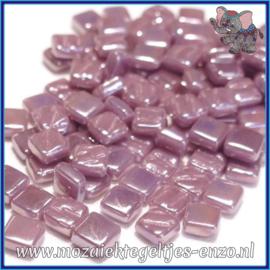 Glasmozaiek Pixel steentjes - Ottoman Parelmoer - 0,8 x 0,8 cm - Enkele Kleuren - per 50 gram - Lilac