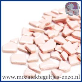 Keramische mozaiek steentjes - Keramiek Puzzel Stukjes Normaal - Enkele Kleuren - per 50 gram - Sweet Peach