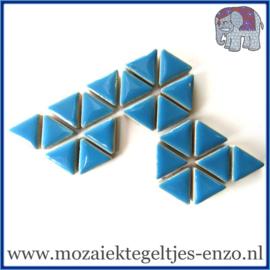 Keramische mozaiek steentjes - Triangles Driehoekjes Normaal - 15 mm - Enkele Kleuren - per 50 gram - Thalo Blue