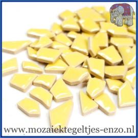 Keramische mozaiek steentjes - Keramiek Puzzel Stukjes Normaal - Enkele Kleuren - per 50 gram - Banana