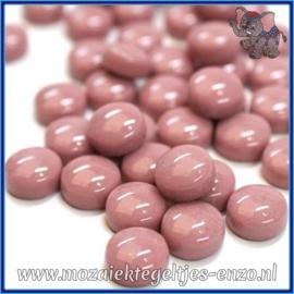 Glasmozaiek steentjes - Optic Drops Normaal - 12 mm - Enkele Kleuren - per 50 gram - Deep Rose