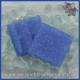 Glasmozaiek tegeltjes - Basic Line - 2 x 2 cm - Enkele Kleuren - per 20 steentjes - Blue Heaven A19