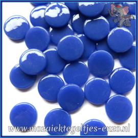 Glasmozaiek steentjes - Penny Rounds Normaal - 18 mm - Enkele Kleuren - per 50 gram - Warm Blue