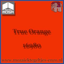 Binnen wandtegel Royal Mosa - Glanzend - 7,5 x 7,5 cm - Op maat gesneden - True Orange 16980