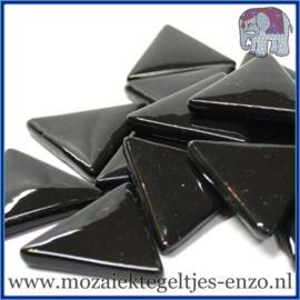 Glasmozaiek steentjes - Art Angles Gewoon - 29 mm - Enkele Kleuren - per 1 kilo - Black