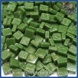 Glasmozaiek Pixel steentjes - Ottoman Matte - 0,8 x 0,8 cm - Enkele Kleuren - per 50 gram - Pine Green