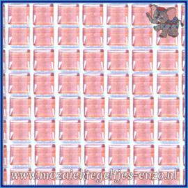 Glasmozaiek tegeltjes - Murrini Crystal - 1 x 1 cm - Enkele Kleuren - per 60 steentjes - Mini Dream Pink