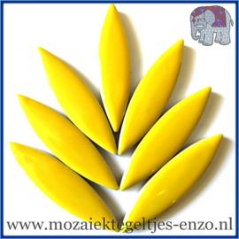 Keramische mozaiek steentje - Keramiek Petals Bloemblad XL Normaal - 15/60 mm - Enkele Kleuren - per 1 stuk - Citrus Yellow