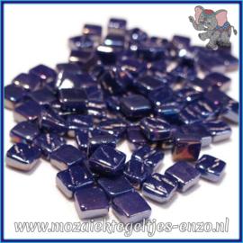 Glasmozaiek Pixel steentjes - Ottoman Parelmoer - 0,8 x 0,8 cm - Enkele Kleuren - per 50 gram - Royal Blue