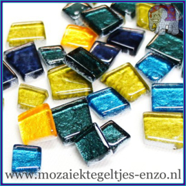 Glasmozaiek steentjes - Moonbeam Normaal - Gemixte Kleuren - per 50 gram - Lemuria