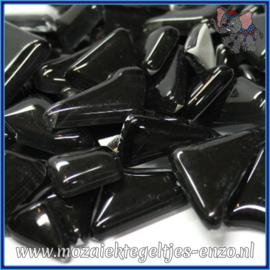 Glasmozaiek steentjes - Soft Glass Puzzles Normaal - Enkele Kleuren - per 50 gram - Black