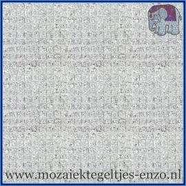 Spiegel mozaiek tegeltjes - Textured Mirror - per 60 stuks - 1 x 1 cm