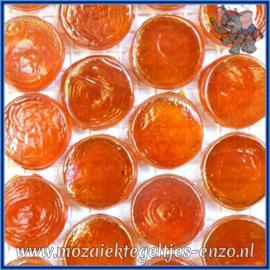 Glasmozaiek steentjes - Radiant Round Parelmoer - 18 mm - Enkele Kleuren - per 1 stuk - Zanzibar