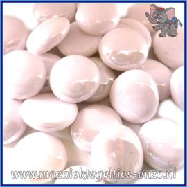 Glasmozaiek steentjes - Glasnuggets/Glasstenen Normaal - 18/22 mm - Enkele Kleuren - per 10 stuks - Pastel Pink Marble