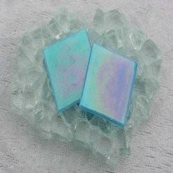 """- Nebula 2 x 2 cm - Turquoise-""""S"""""""