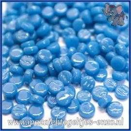Glasmozaiek Pixel steentjes - Darling Dotz Normaal - 0,8 cm - Enkele Kleuren - per 50 gram - Lake Blue