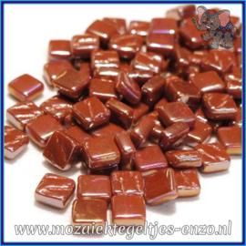 Glasmozaiek Pixel steentjes - Ottoman Parelmoer - 0,8 x 0,8 cm - Enkele Kleuren - per 50 gram - Chestnut