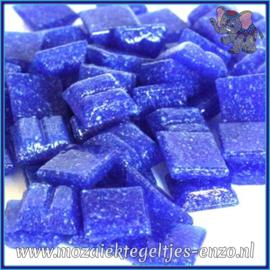 Glasmozaiek tegeltjes - Basic Line - 1 x 1 cm - Enkele Kleuren - per 60 steentjes - Mini Blue Heaven A19