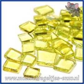 Glasmozaiek steentjes - Transparant Glass Puzzles Normaal - Enkele Kleuren - per 50 gram - Jazz Fusion Lemon