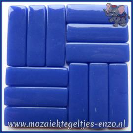 Glasmozaiek steentjes - Stix Rechthoekjes Staafjes XL Normaal - 12 x 38 mm - Enkele Kleuren - per 50 gram - Warm Blue