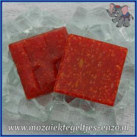 Glasmozaiek tegeltjes - Basic Line - 2 x 2 cm - Enkele Kleuren - per 20 steentjes - True Red A98