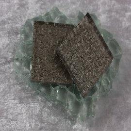 "Glasmozaïek Pearl Sparkle 2,5 x 2,5 cm - Pewter -""S"""