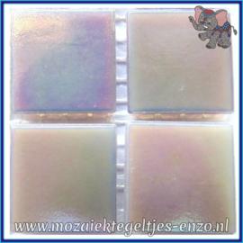 Glasmozaiek tegeltjes - Parelmoer - 2 x 2 cm - Enkele Kleuren - per 20 steentjes - Lilac Quartz