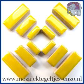 Keramische mozaiek steentjes - Keramiek Rectangles Rechthoekjes Normaal - 4, 6 en 10 mm - Enkele Kleuren - per 50 gram - Citrus Yellow